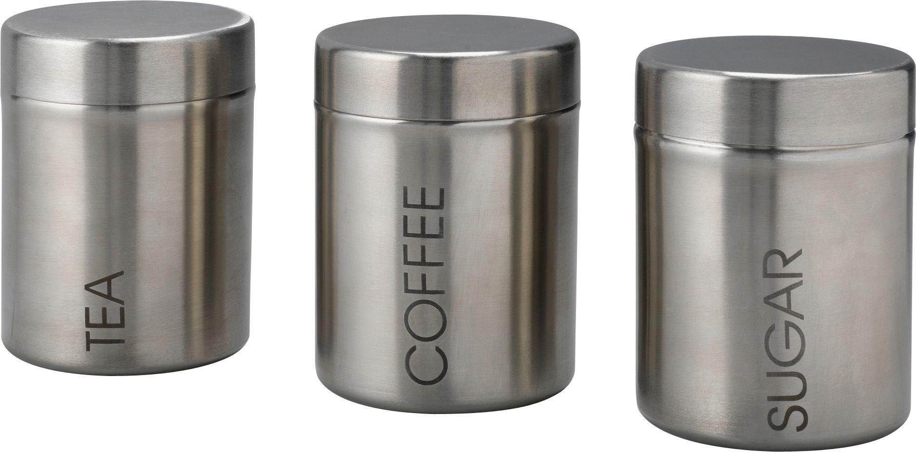 Buy Home Stainless Steel Storage Canisters At Argoscouk