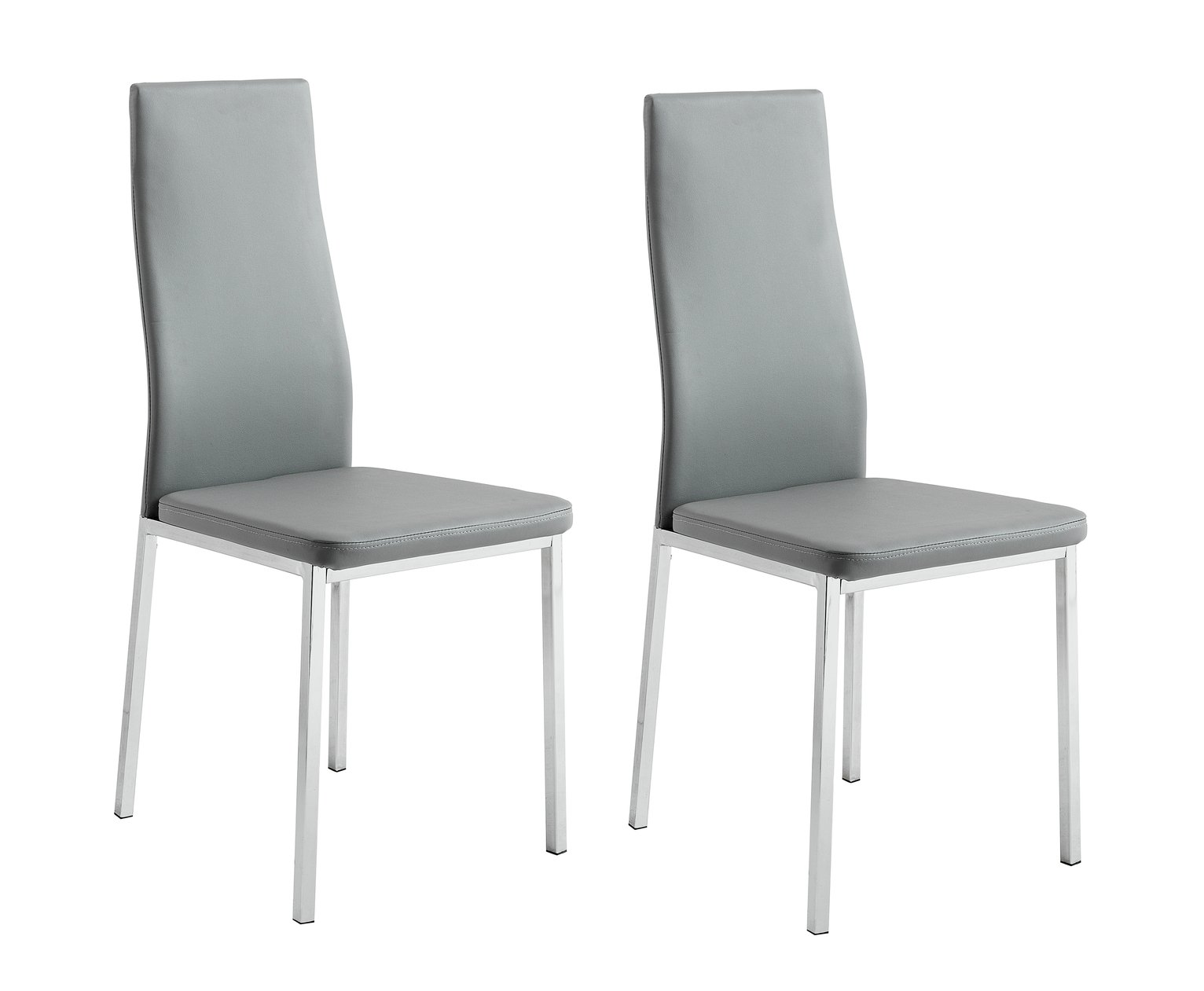 grey dining chairs green bungee chair buy argos home tia pair of chrome and