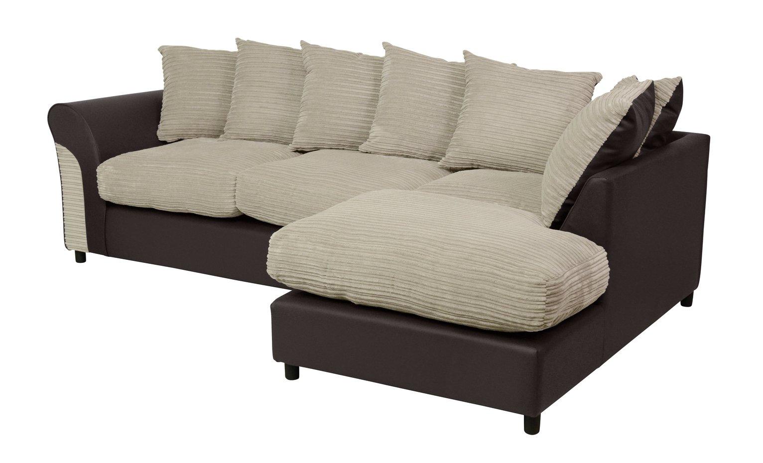 argos brooklyn sofa large mah jong price riley fabric right hand corner group unit natural
