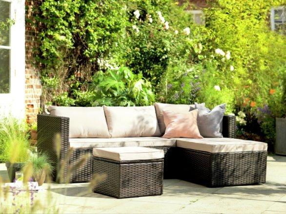 buy habitat mini corner sofa set with storage brown garden furniture sets habitat