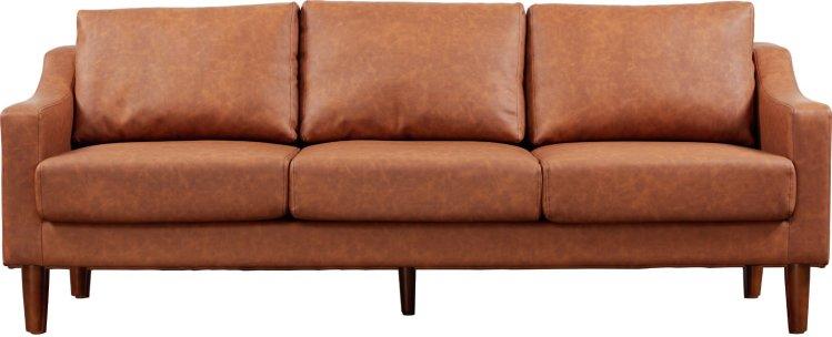 buy argos home brixton 3 seater faux leather sofa tan sofas argos