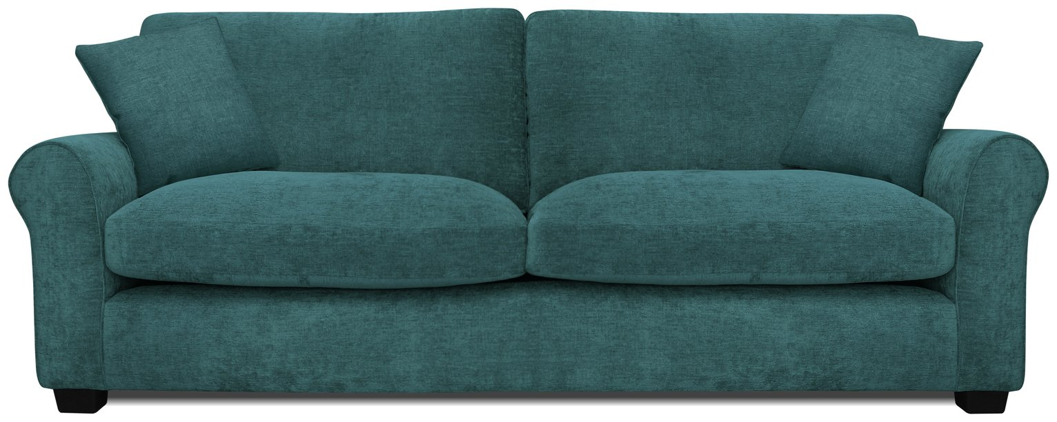 teal sofas kuka leather sofa india buy argos home tammy 4 seater fabric