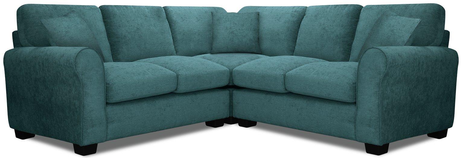 teal sofas small office reception sofa buy argos home tammy reversible corner fabric