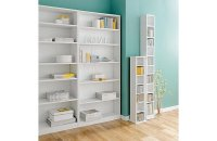 Buy HOME Maine Tall DVD and CD Media Storage Tower - White ...