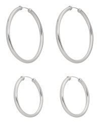 Buy Sterling Silver Hoop Earrings - Set of 2 at Argos.co ...