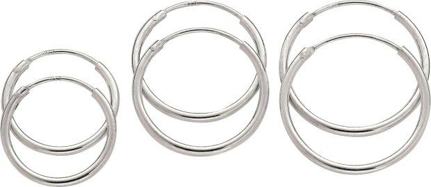 Buy Revere Sterling Silver Hoop Earrings