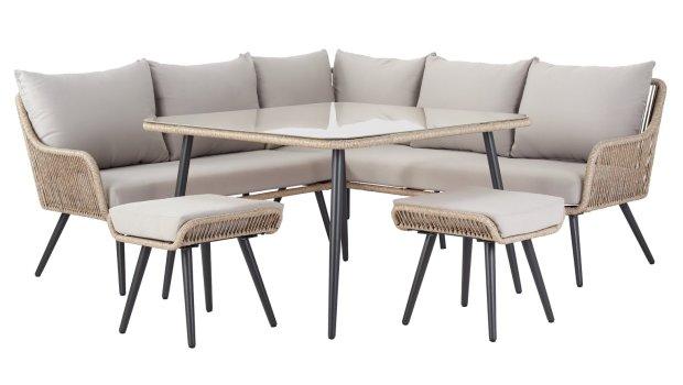 buy argos home malta 6 seater steel corner sofa set patio sets argos