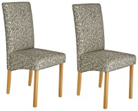 Buy Collection Pair of Floral Fabric Skirted Dining Chairs ...