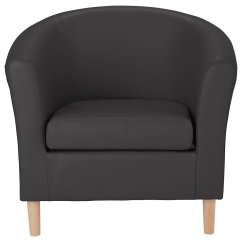Chair Gym Argos Dining Room Slip Covers Bed Bath And Beyond Results For Home Leather Effect Tub Black