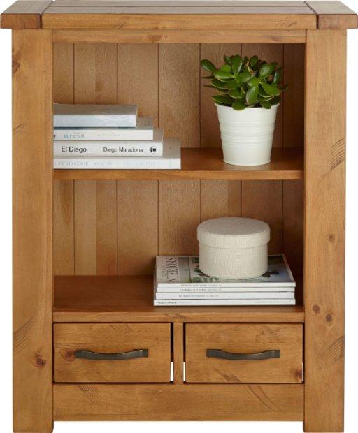 Buy Collection Harvard 1 Shelf 2 Drawer Solid Pine