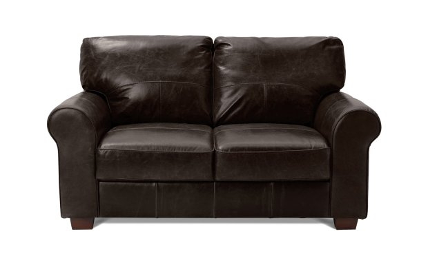 buy habitat salisbury 2 seater leather sofa dark brown sofas argos