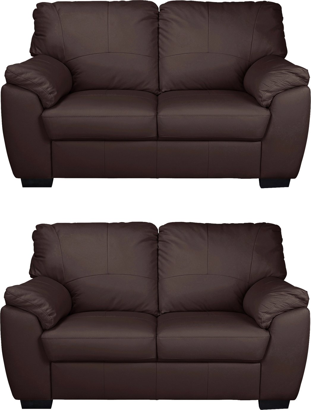 leather sofas glasgow area doc sofa bunk bed for sale uk sets argos home milano pair of 2 seater chocolate