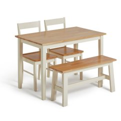 Small Kitchen Tables And Chairs Rolling Cabinet Results For Table 2 Argos Home Chicago Solid Wood Bench