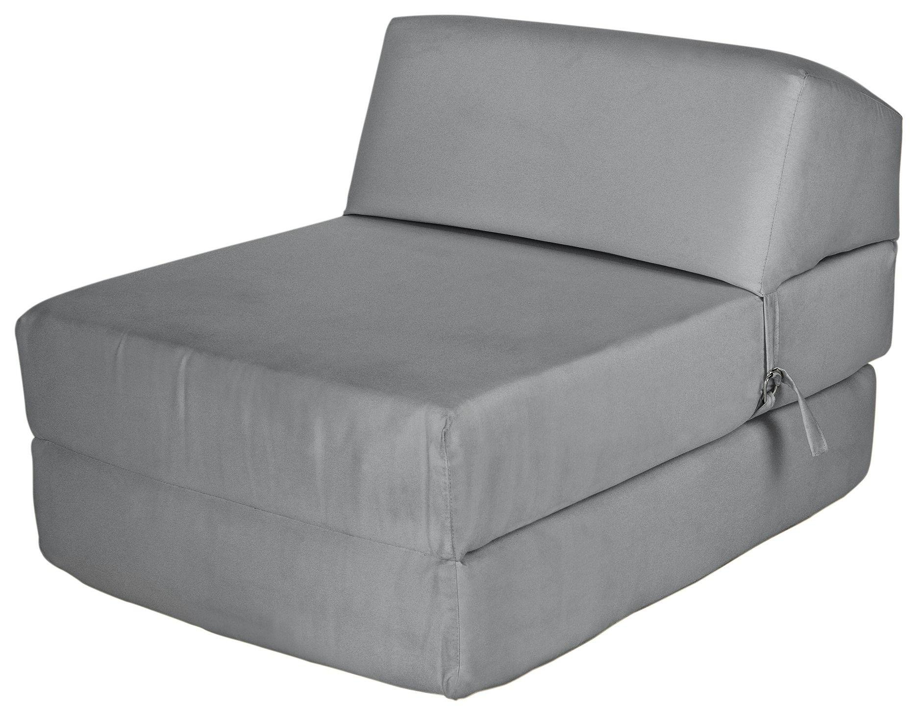 chair beds for adults yoga exercises sofa futons bed settees argos home single cotton chairbed flint grey