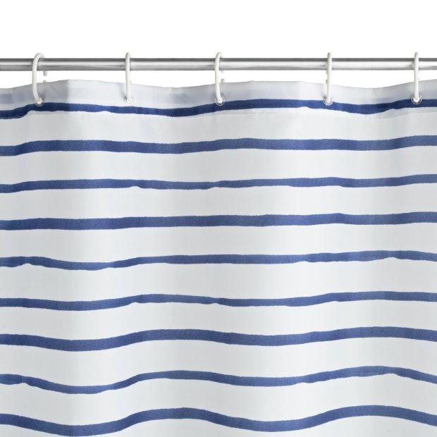buy argos home striped shower curtain navy shower curtains argos