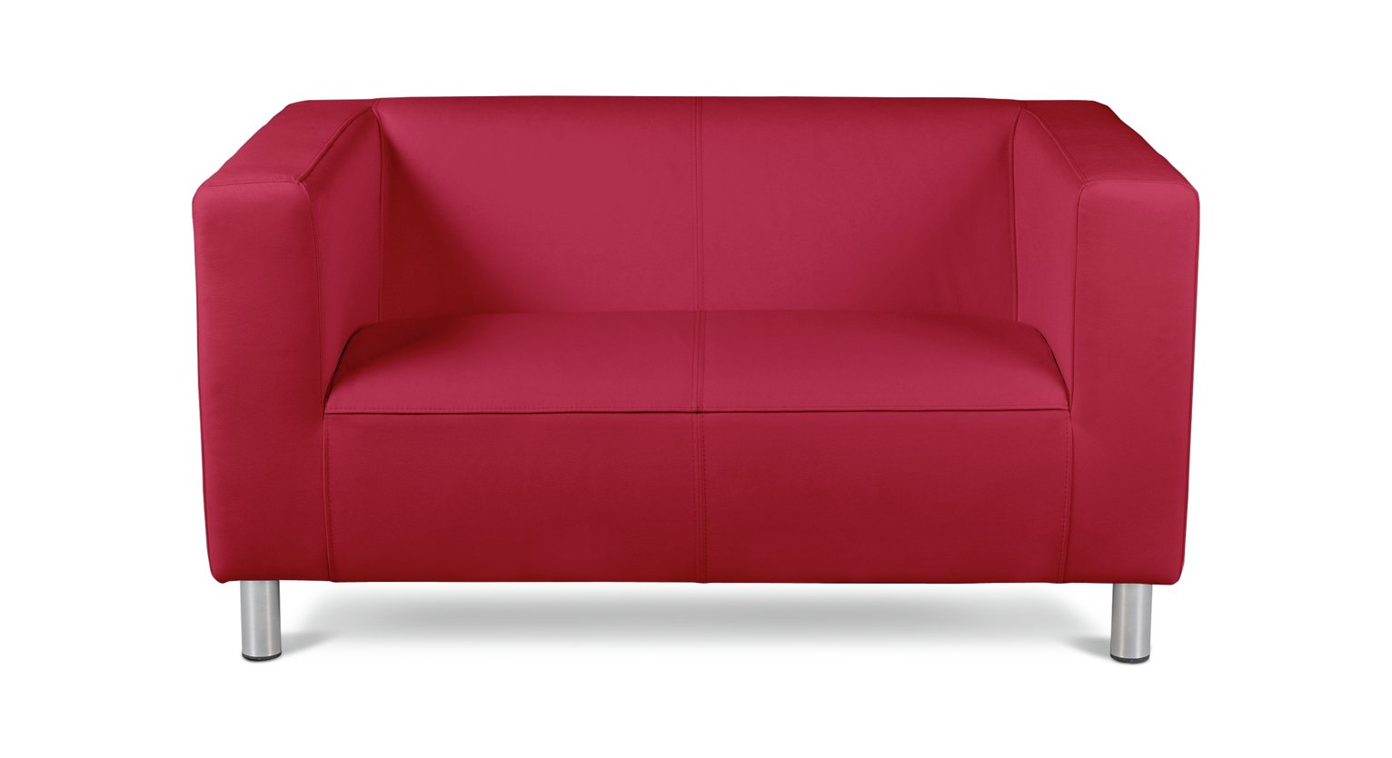 red leather two seater sofa wooden legs results for argos home moda compact 2 faux