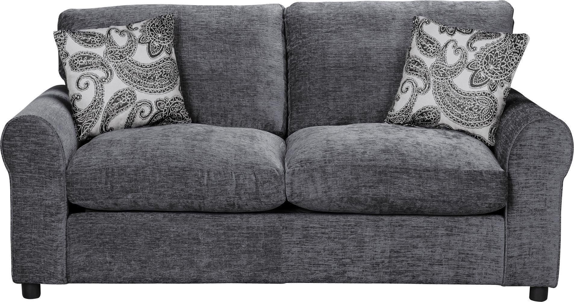 sofa beds argos co uk laura ashley gloucester 2 seater buy home tabitha fabric bed - charcoal at ...