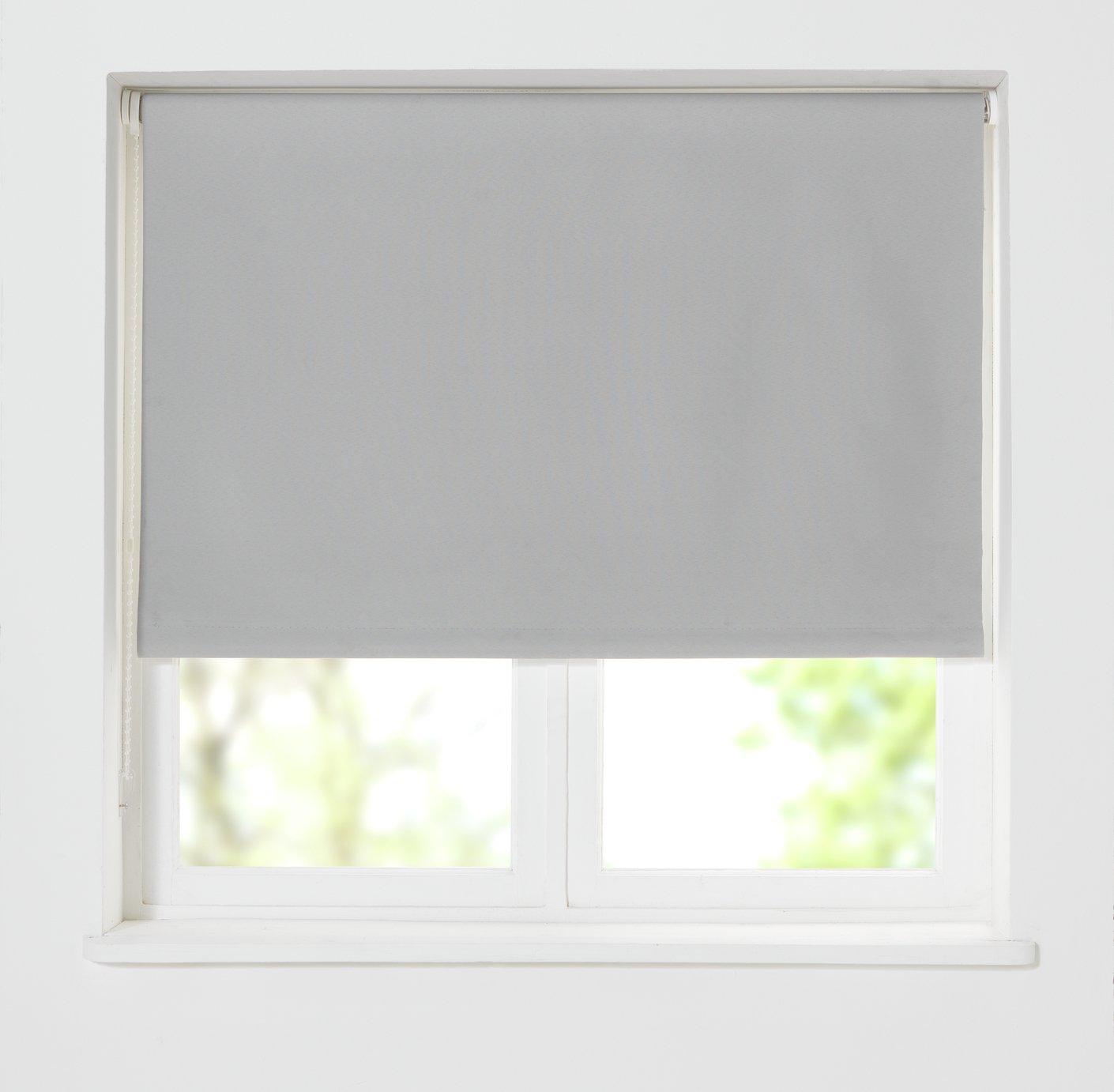 grey kitchen blinds cabinet refinishing ct roller venetian blackout argos home thermal blind