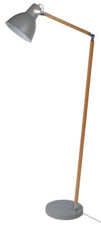 Buy Collection Twyford Wood & Metal Floor Lamp - Grey at ...