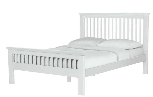 Buy Collection Aubrey Double Bed Frame  White  Bed