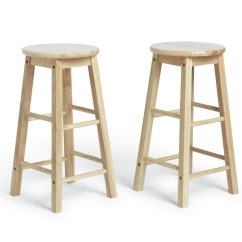 Wooden Kitchen Stools Small Island Ideas With Seating Bar Chairs Breakfast Argos Simple Value Pair Of Solid Wood