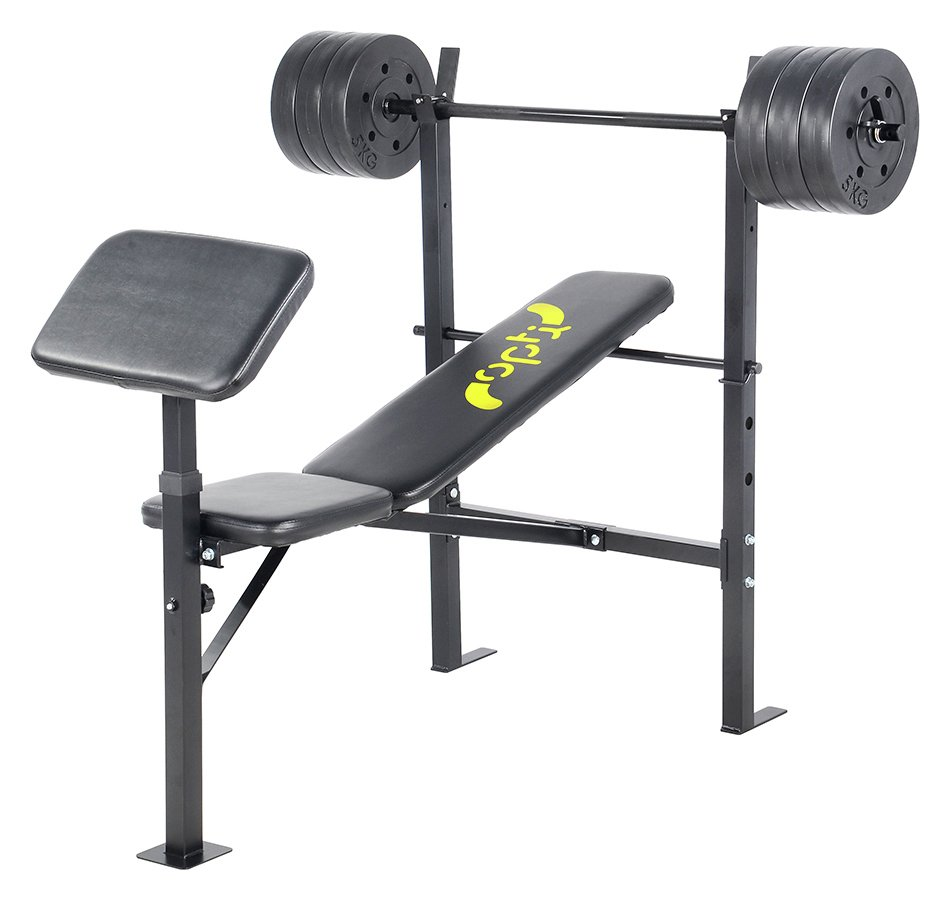 chair gym argos patio covers christmas tree shop weight benches exercise opti bench with 30kg weights