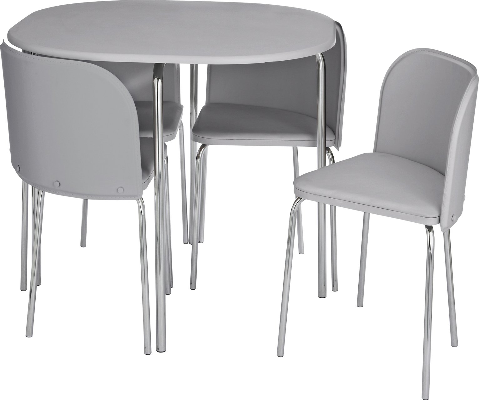 hideaway table and chairs argos pink for sale space saving dining sets compact home amparo white