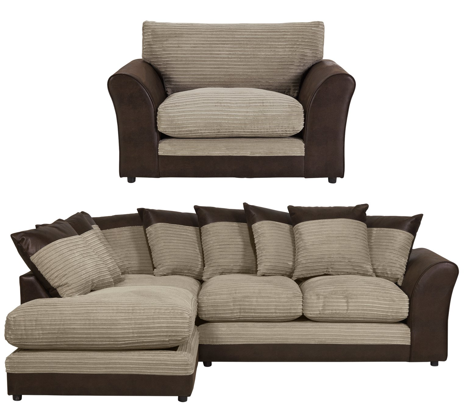 sofa package deals uk west elm henry cushions buy cream packages at argos co your online shop