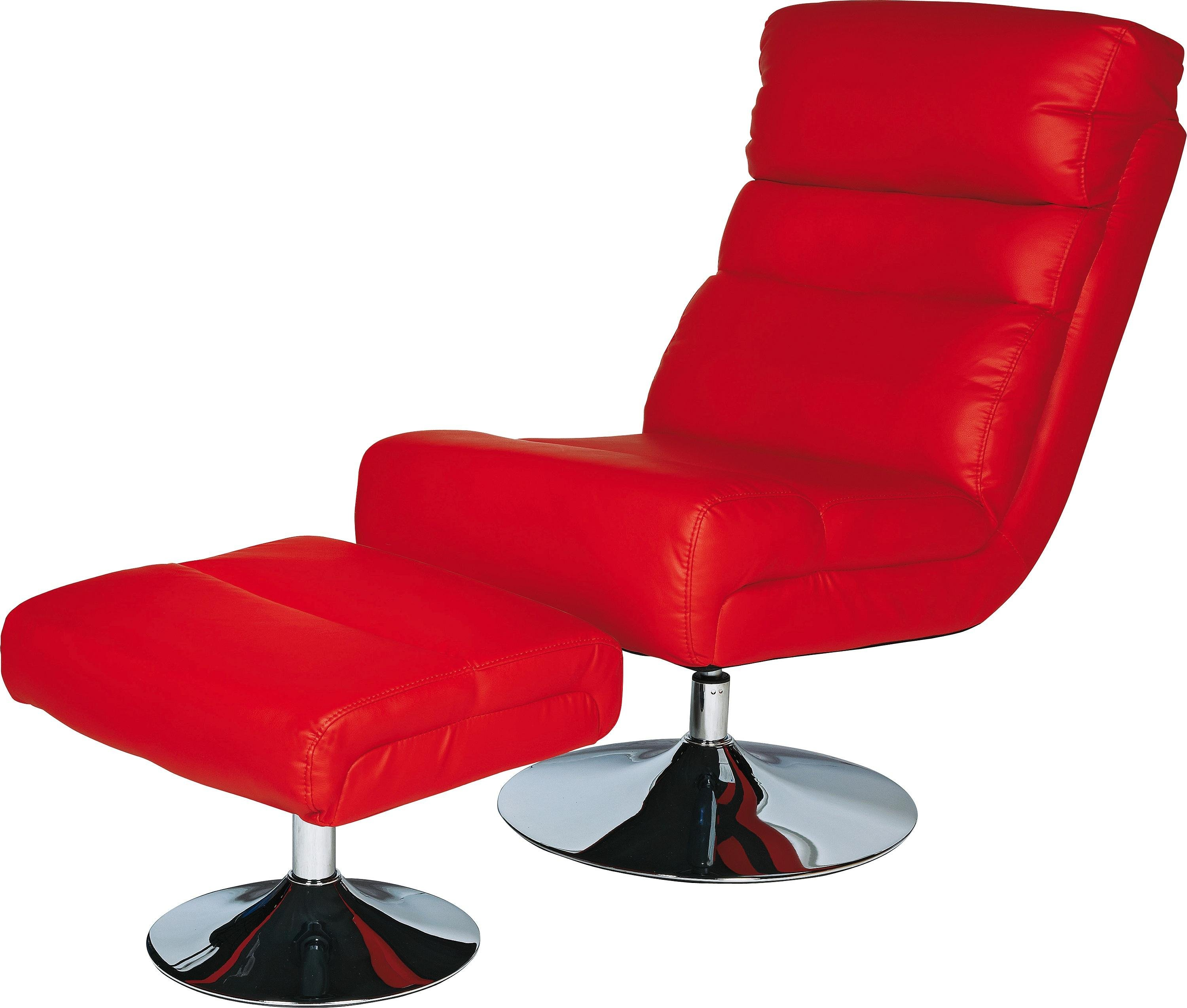Red Leather Swivel Chair Buy Argos Home Costa Faux Leather Swivel Chair Footstool Red