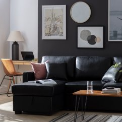 Black Leather Sofa Bed Argos How To Reupholster Faux Buy Home Reagan Left Corner