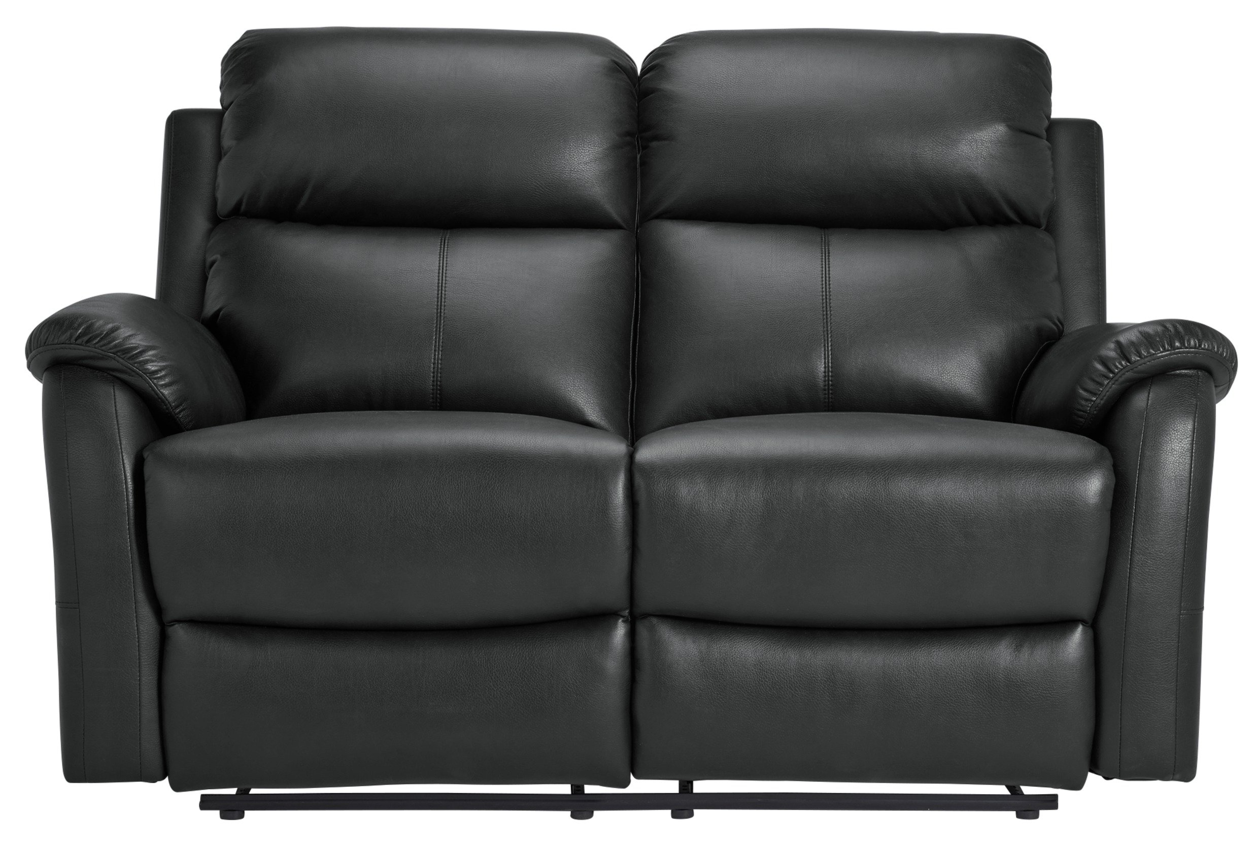 leather vs fabric sofa india modular chairs sofas argos home tyler 2 seater recliner black
