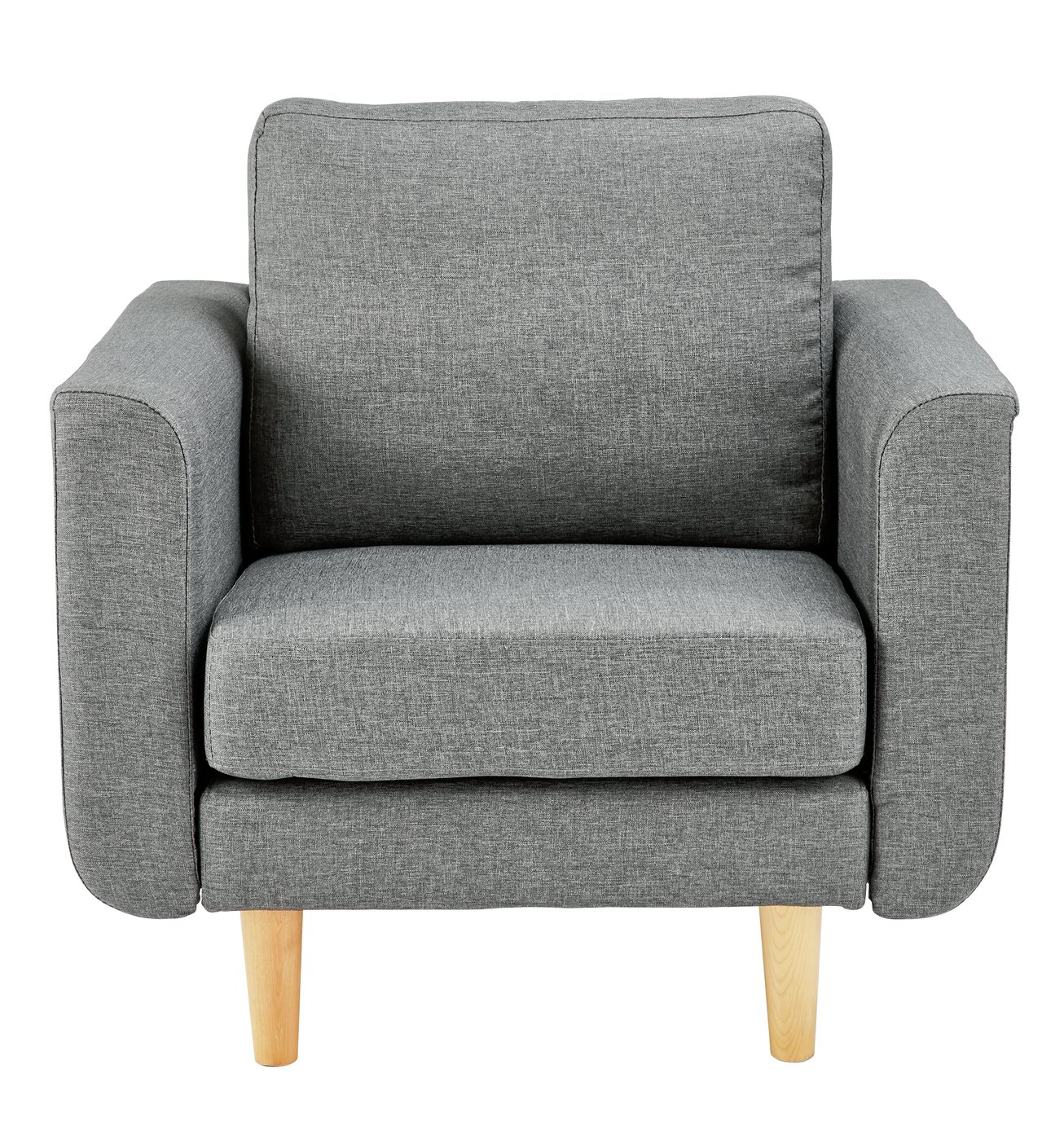 swivel cuddle chair york blue striped covers armchairs chairs recliners argos home remi fabric armchair in a box light grey