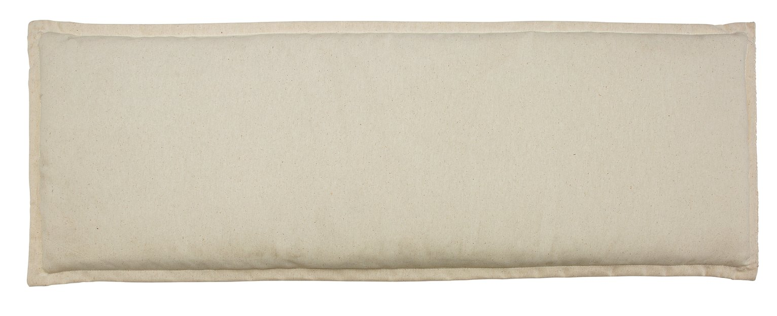 garden chair cushions leather office furniture covers argos cream cushion for 4ft bench