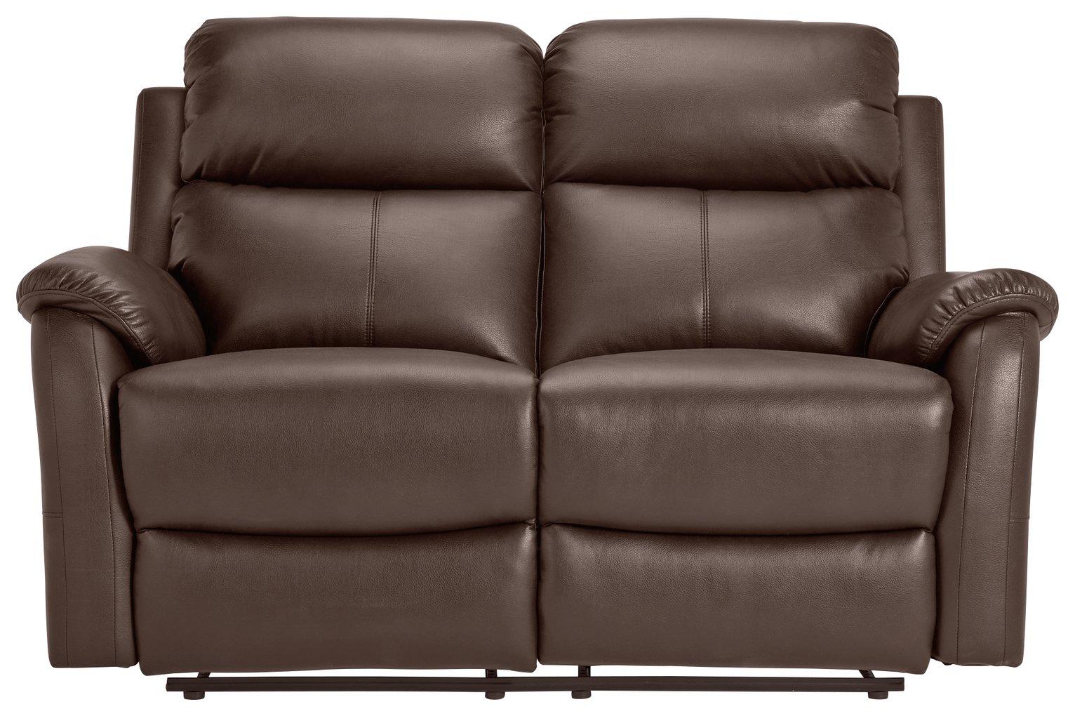 distressed leather corner sofa uk sofas sydney designer results for recliner argos home tyler 2 seater chocolate