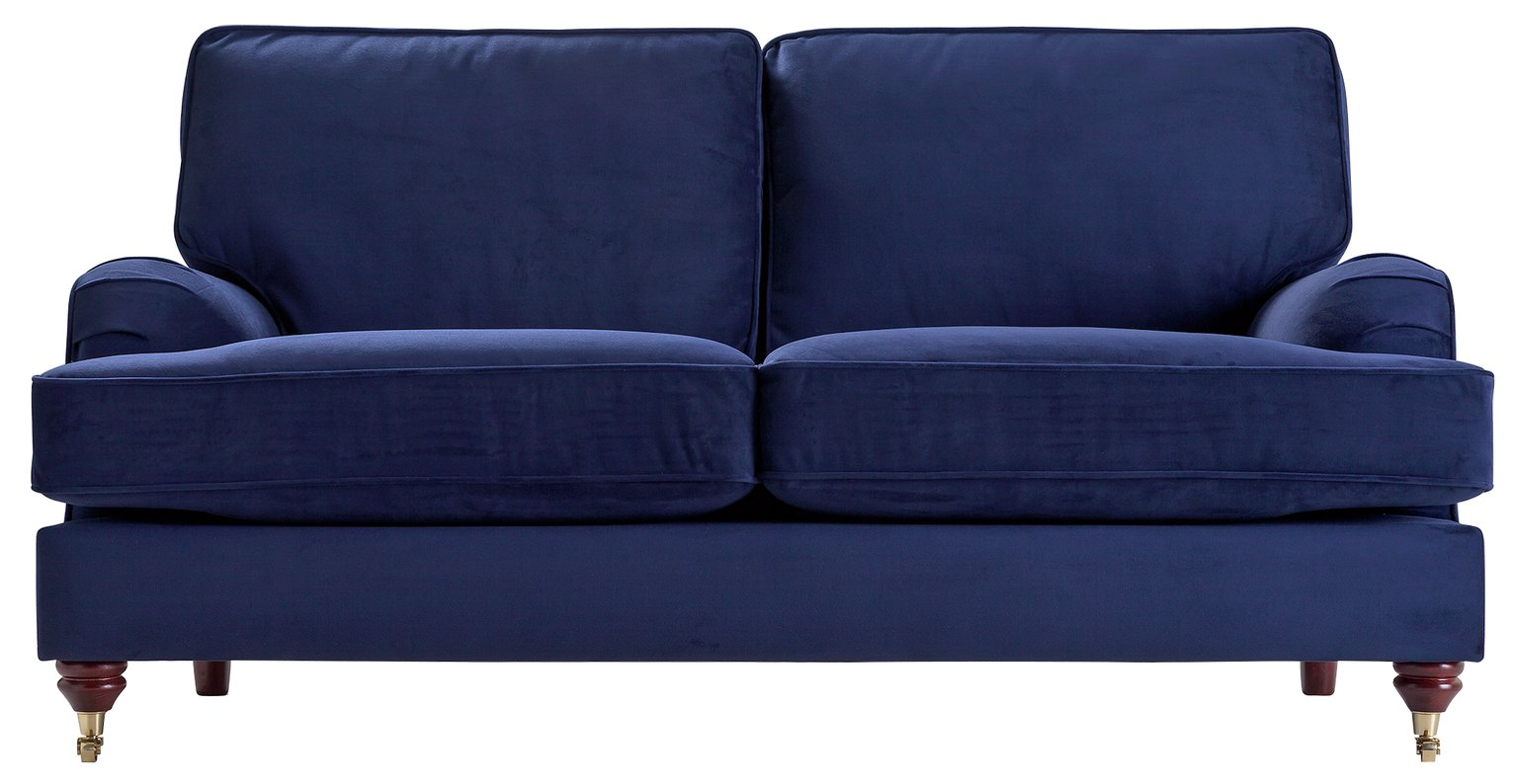 pink sofa browse uk clean cushions urine sofas leather fabric argos home abberton 3 seater velvet navy