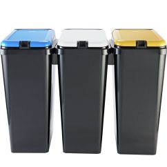 Kitchen Recycle Bin Ikea Tables And Chairs Recycling Bins Argos Home 45 Litre Trio Black