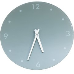 Kitchen Wall Clocks Sink Vent Results For Argos Home Round Glass Clock Grey