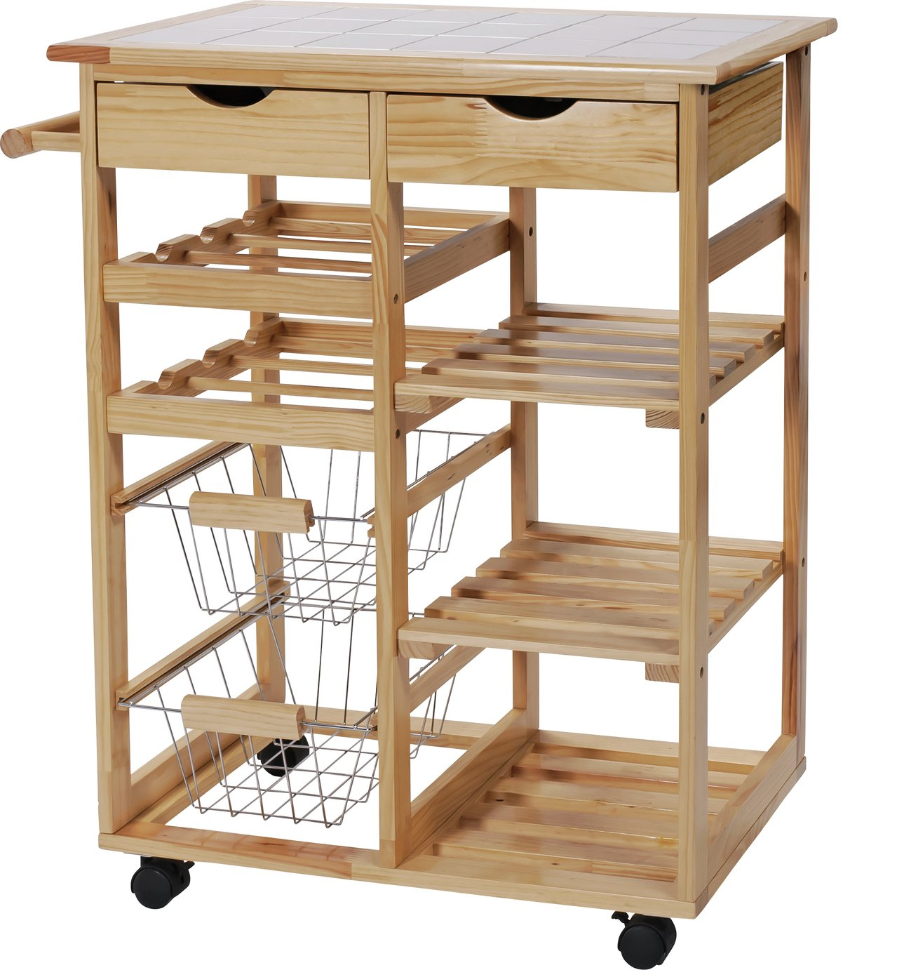 kitchen trolley travertine tile for backsplash in trolleys vegetable hostess argos home pine top