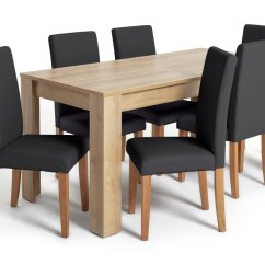 Table And 6 Chairs Cheap Bean Bag Results For Dining Argos Home Miami Xl Midback