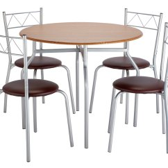 Set Of Chairs Crazy Creek Canoe Chair Dining Sets Kitchen Tables Argos Home Oslo Round Table And 4