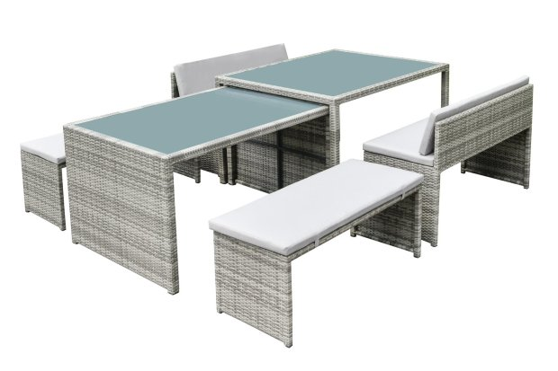 buy habitat space saving 8 seater patio set grey patio sets argos