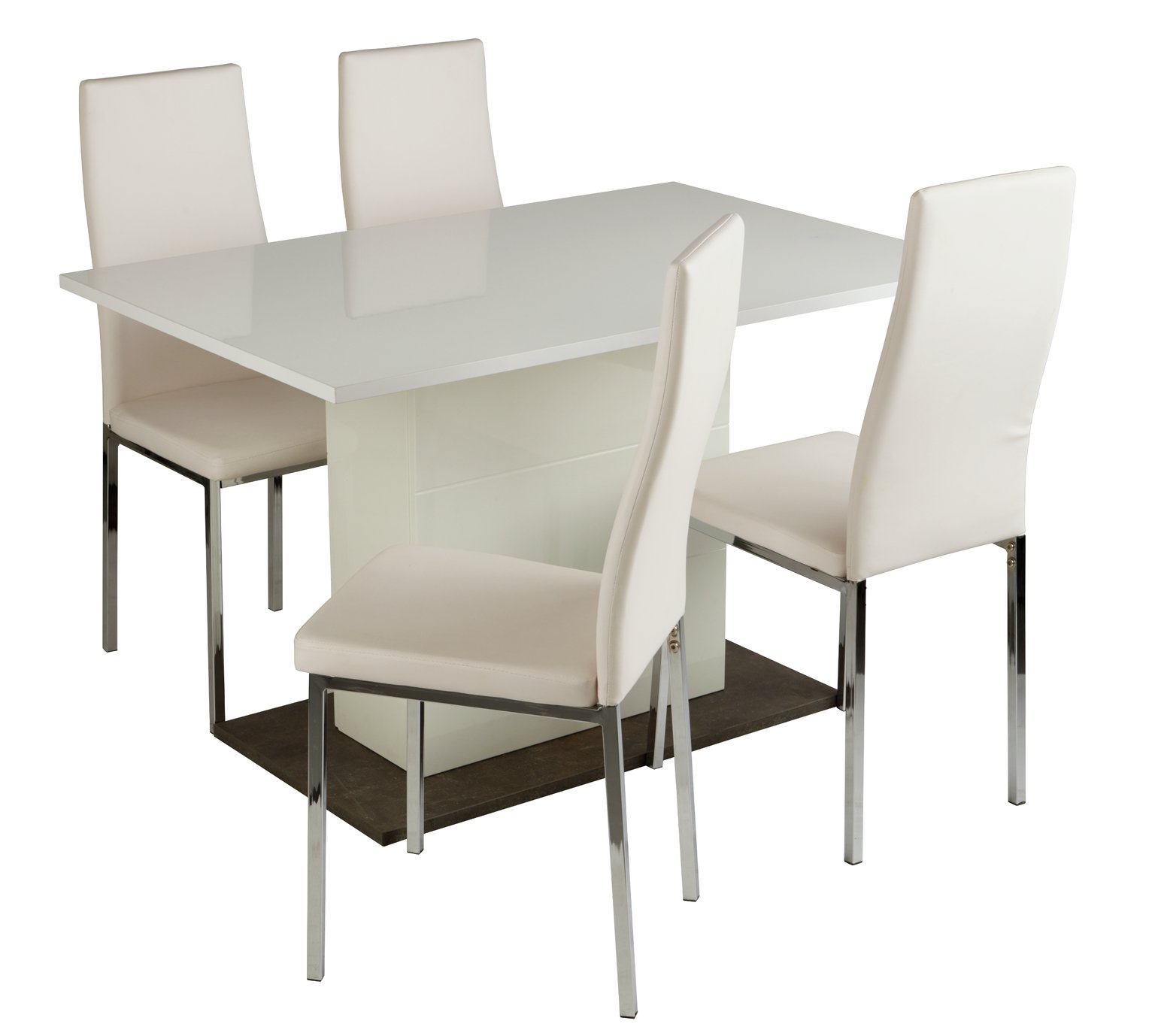 kitchen dining set remodeled ideas sets tables argos home holborn gloss pedastal table 4 chairs