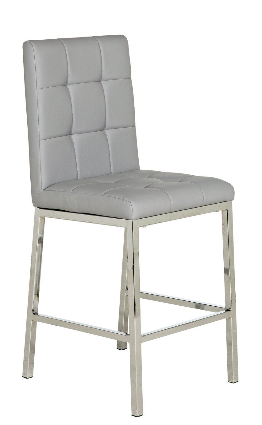 gray kitchen chairs table with stools bar breakfast argos home pair of nitro grey chrome