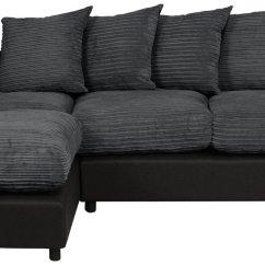 Sofas For Less Uk Sectional Sale Tulsa Ok Corner Argos Home Harry Large Left Fabric Sofa Charcoal