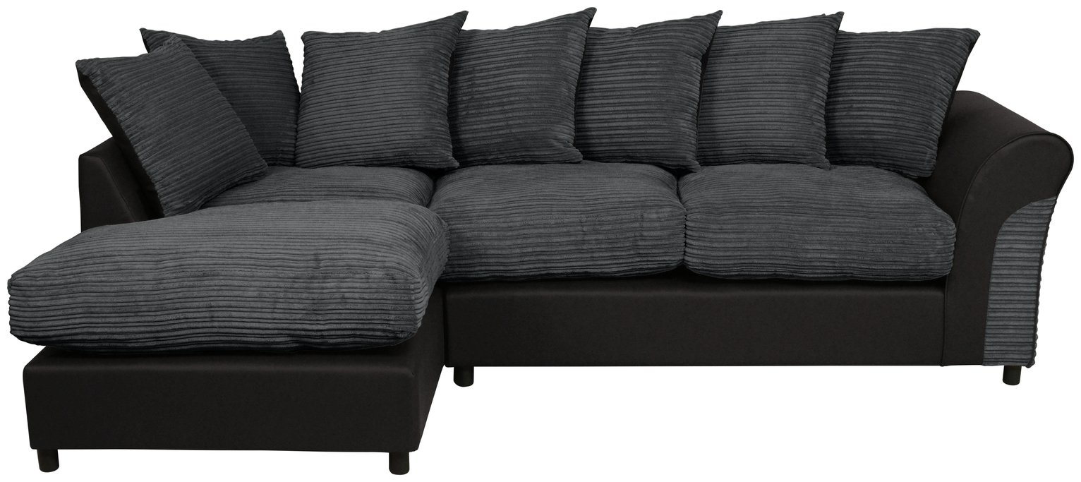 large square corner sofa gambar desain minimalis sofas argos home harry left fabric charcoal