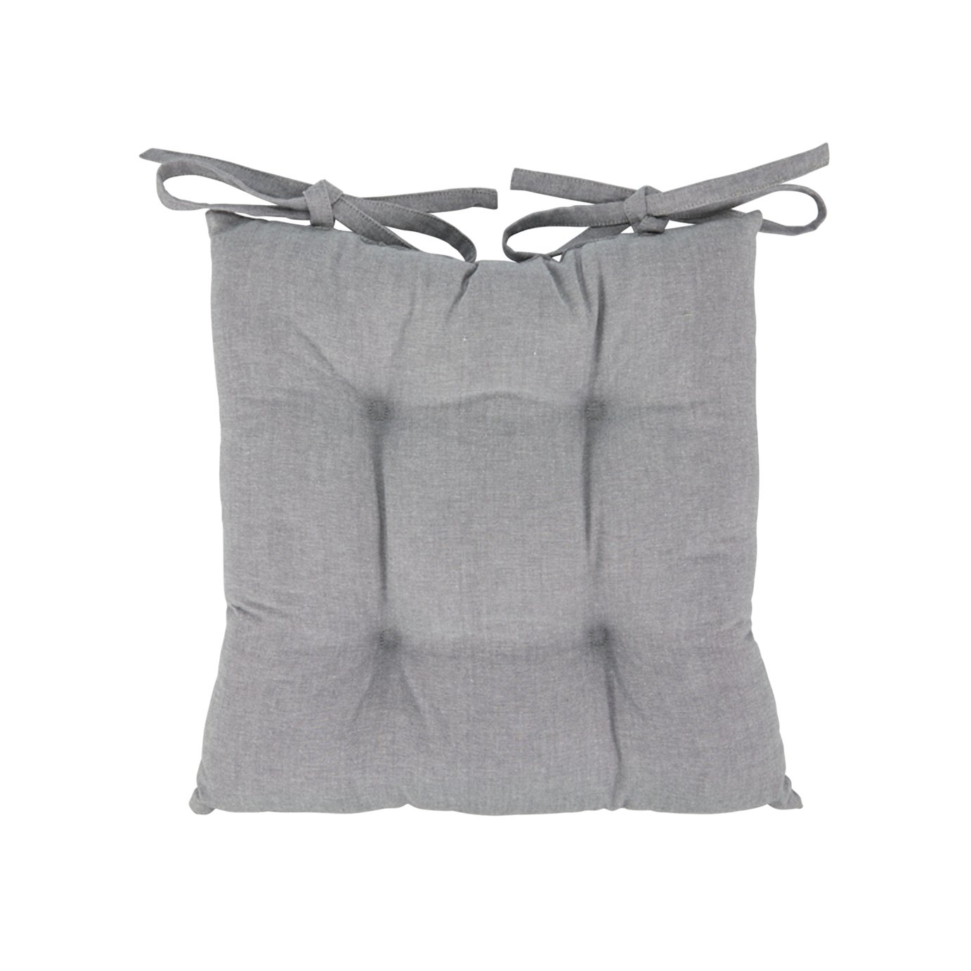 armchair covers argos table chairs outdoor chair seat pads cushions home grey 2 pack