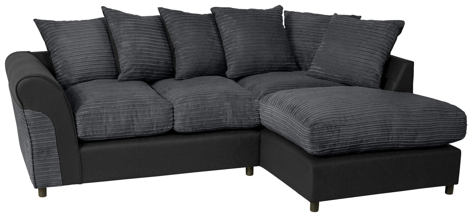 large square corner sofa designer leather sofas australia argos home harry right fabric charcoal