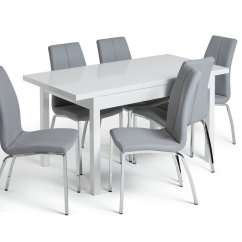 Small Kitchen Table And Chairs Argos White Resin Adirondack Dining Sets Tables Home Lyssa Xl Extendable 6 Milo