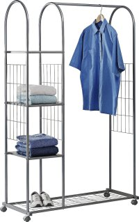 Buy HOME Clothes Rail with Shelves - Silver at Argos.co.uk ...