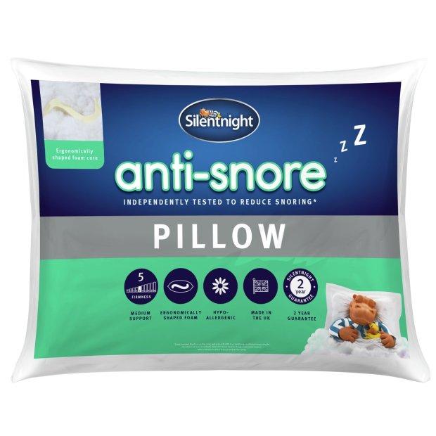 buy silentnight anti snore medium soft pillow pillows argos